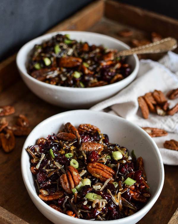 Pecan Cranberry Wild Rice Side Dish