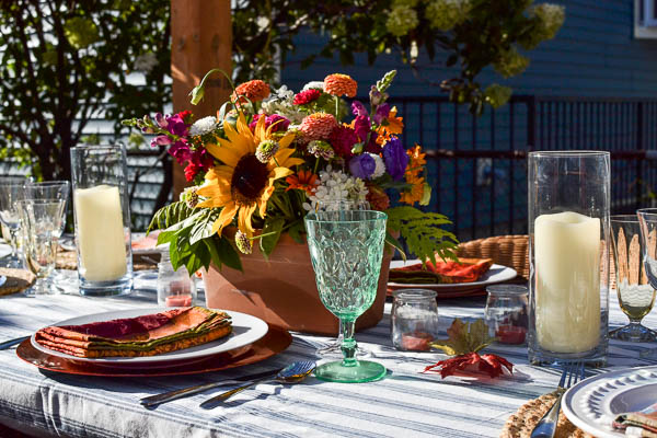 how to style a fall dining table