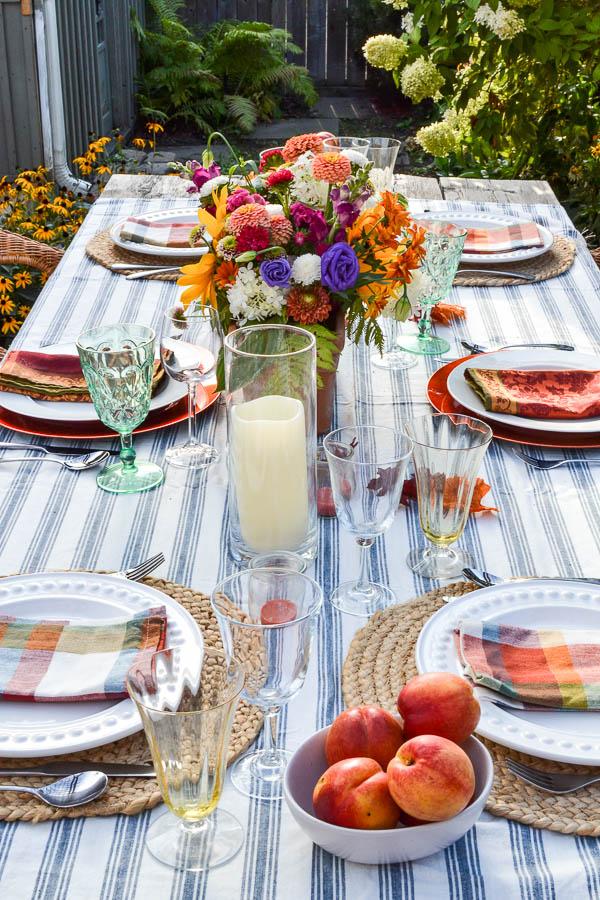 early autumn table decor