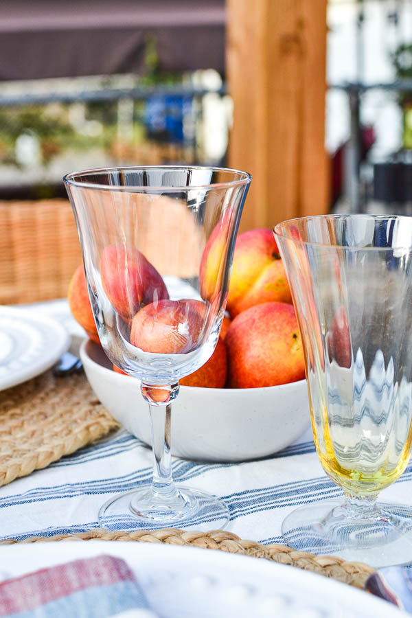 Nectarines on a fall table