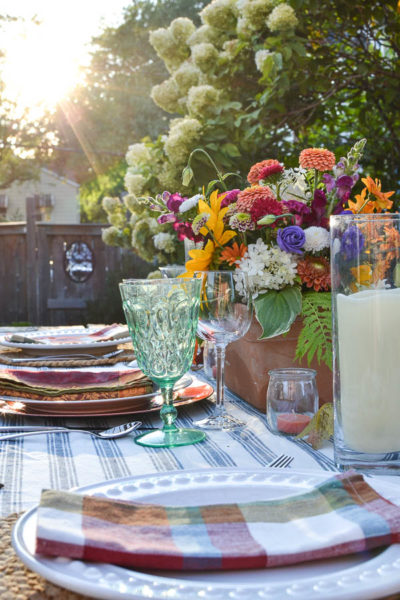 alfresco fall dining