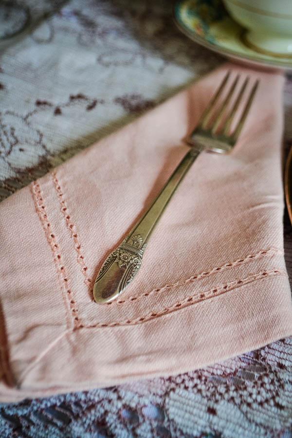 Christmas Table Pink Linen Napkins