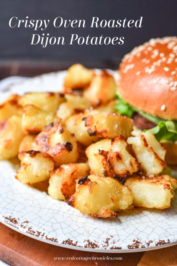 Crispy oven roasted potatoes with dijon and maple