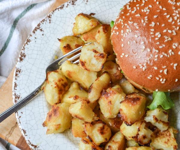 Oven roasted crispy Dijon Potatoes