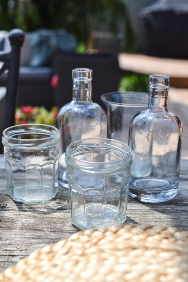 clear glass jars make perfect vases