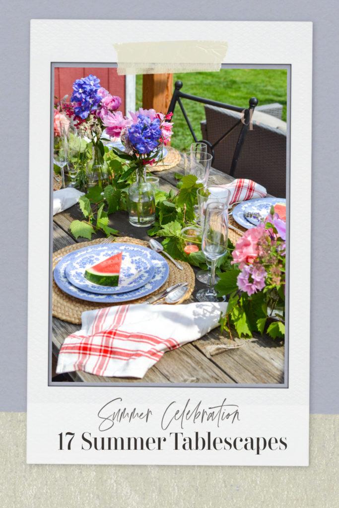 Summer celebration tables cape